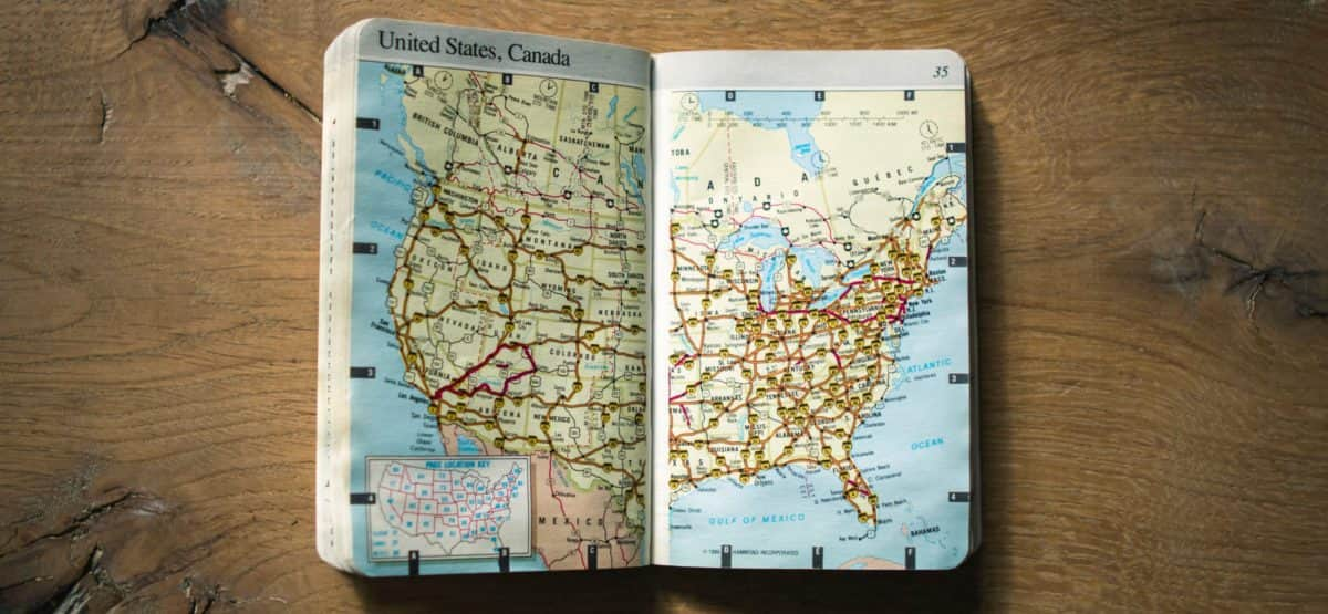 Little book with maps