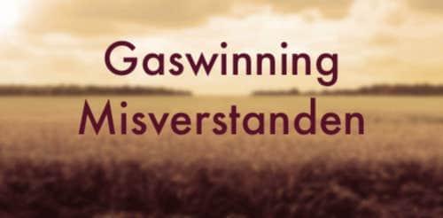 Leuk fotootje van het open landschap van Groningen met tekst eroverheen: gaswinning misverstanden