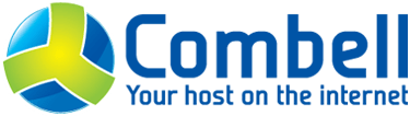 logo with text: Combell, your host on the internet