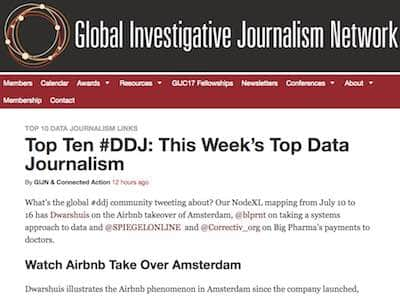screenshot met als kop: This Week's Top Data Journalism
